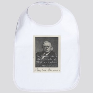 Forget The Things - H W Beecher Cotton Baby Bib