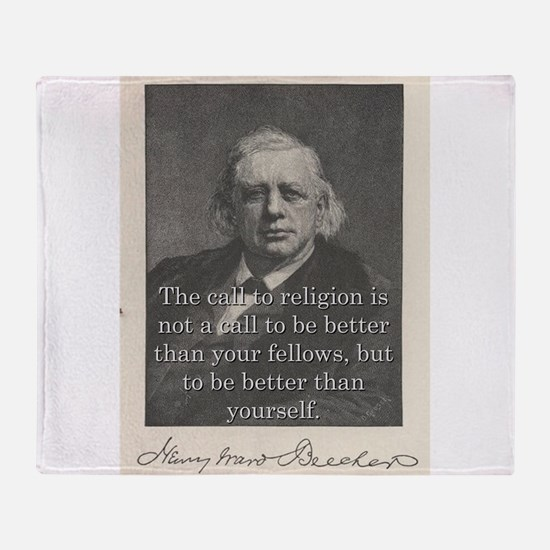 The Call To Religion - H W Beecher Throw Blanket