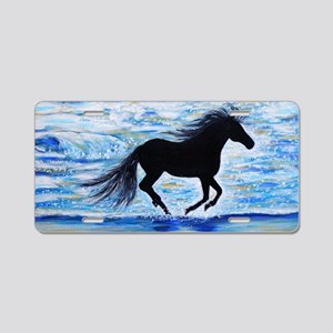 Running Free by the Sea 2 Aluminum License Plate