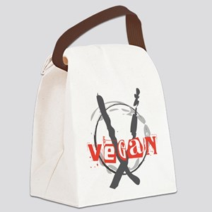 Vegan Anarchist.png Canvas Lunch Bag