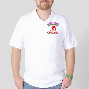 Curling Design Golf Shirt