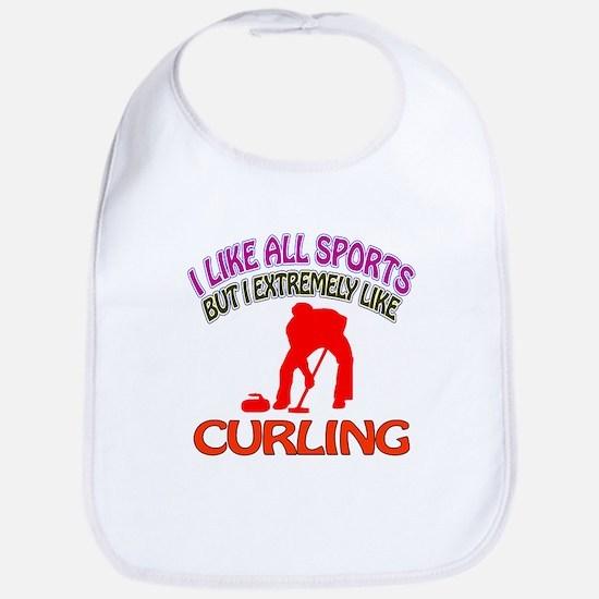 Curling Design Bib