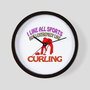 Curling Design Wall Clock
