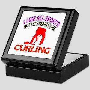 Curling Design Keepsake Box
