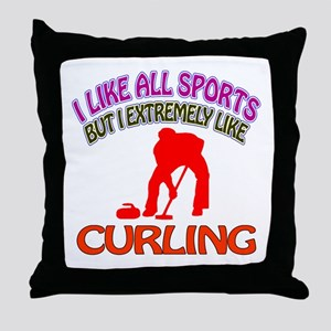 Curling Design Throw Pillow