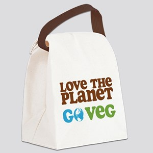 Love the Planet Go Veg Canvas Lunch Bag