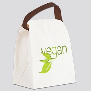 Leafy Vegan Canvas Lunch Bag