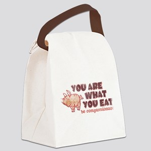 You Are What You Eat Canvas Lunch Bag