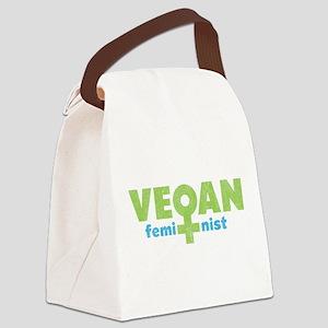 Vegan Feminist.png Canvas Lunch Bag