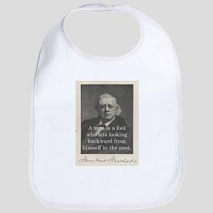 A Man Is A Fool - H W Beecher Cotton Baby Bib