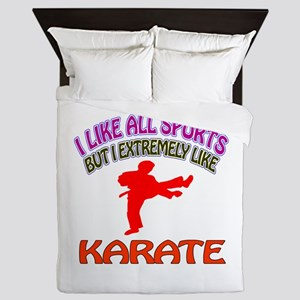 Karate Design Queen Duvet
