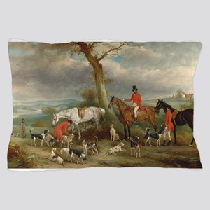 Vintage Painting of the Hunt Pillow Case