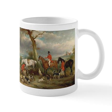 Vintage Painting of the Hunt Mug