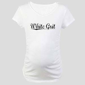 White Grit, Aged, Maternity T-Shirt