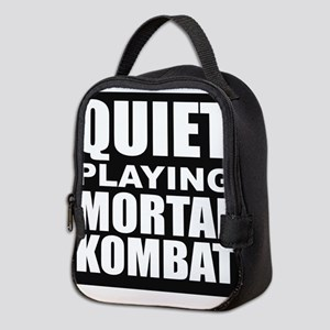 Quiet Playing Mortal Kombat Neoprene Lunch Bag