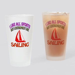 Sailing Design Drinking Glass