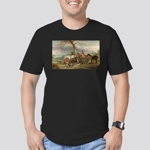 Vintage Painting of the Hunt Men's Fitted T-Shirt