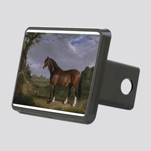 Vintage Painting of Clydesdale Stallion Rectangula