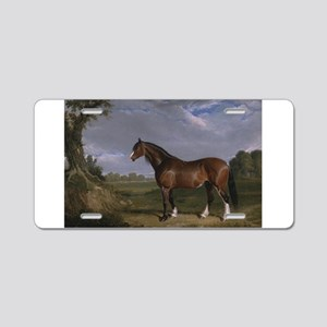 Vintage Painting of Clydesdale Stallion Aluminum L