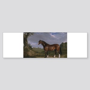 Vintage Painting of Clydesdale Stallion Sticker (B
