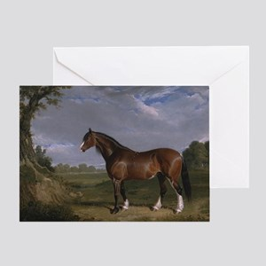 Vintage Painting of Clydesdale Stallion Greeting C