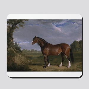 Vintage Painting of Clydesdale Stallion Mousepad