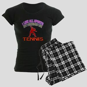 Tennis Design Women's Dark Pajamas