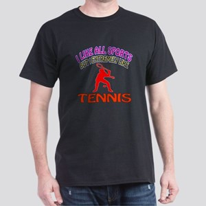 Tennis Design Dark T-Shirt