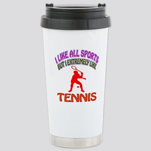 Tennis Design Stainless Steel Travel Mug
