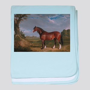 Vintage Painting of Clydesdale Stallion baby blank