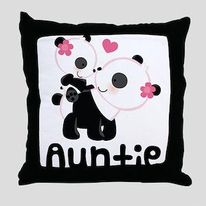 Aunt Panda Bear Throw Pillow