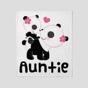 Aunt Panda Bear Throw Blanket