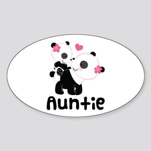 Aunt Panda Bear Sticker (Oval)