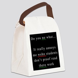 Proof Read BLACK Canvas Lunch Bag