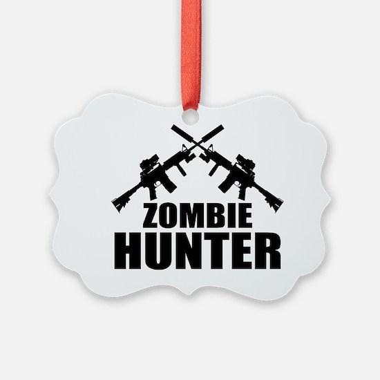 Cute Zombie hunter Ornament