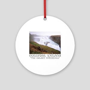 Gullfoss Ornament (Round)