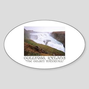 Gullfoss Oval Sticker