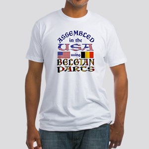 USA / Belgian Parts Fitted T-Shirt