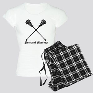 Personalized Lacrosse Sticks Women's Light Pajamas