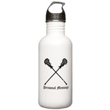 Personalized Lacrosse Sticks Stainless Water Bottl