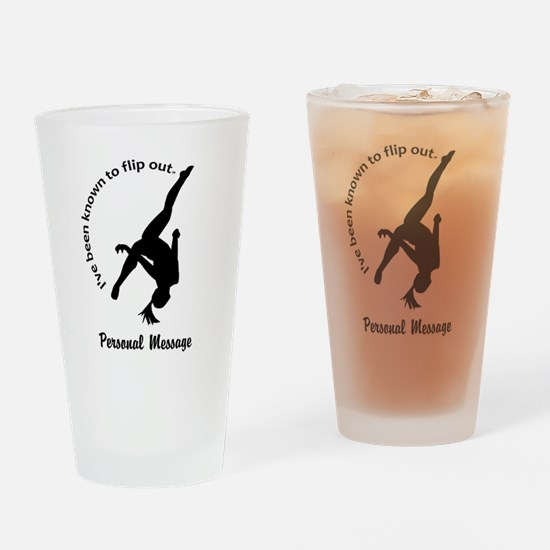 Personalize I Flip Out Drinking Glass