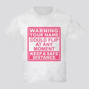 Personalized Gymnastic Warning Kids Light T-Shirt