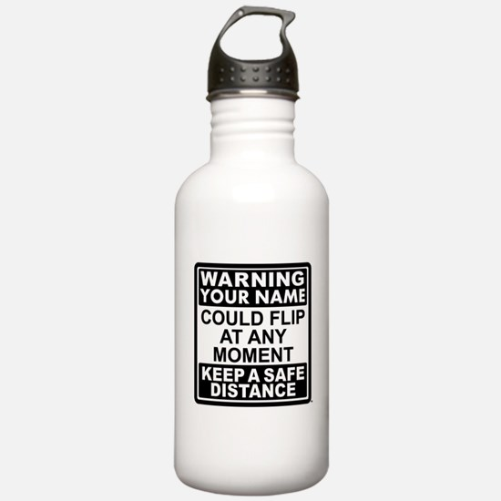 Personalized Gymnastic Warning Water Bottle