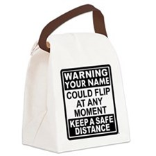 Personalized Gymnastic Warning Canvas Lunch Bag