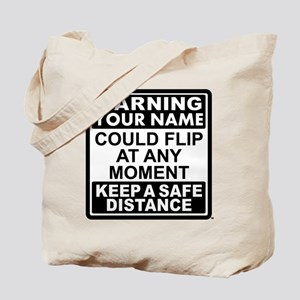 Personalized Gymnastic Warning Tote Bag