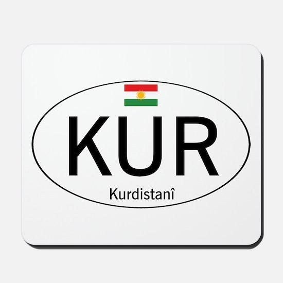 Car code Kurdistan - White Mousepad
