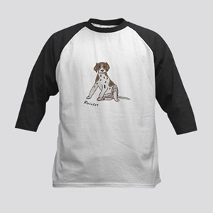 Sitting Pointer Kids Baseball Jersey