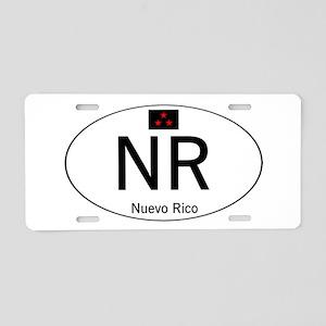 Car code Nuevo Rico - White Aluminum License Plate