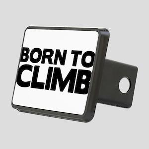 BORN TO CLIMB Rectangular Hitch Cover