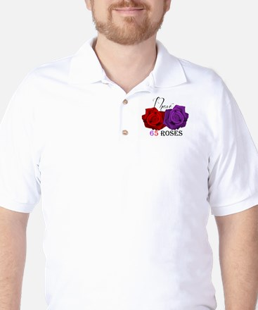 Two Roses: I have Cystic Fibrosis Golf Shirt
